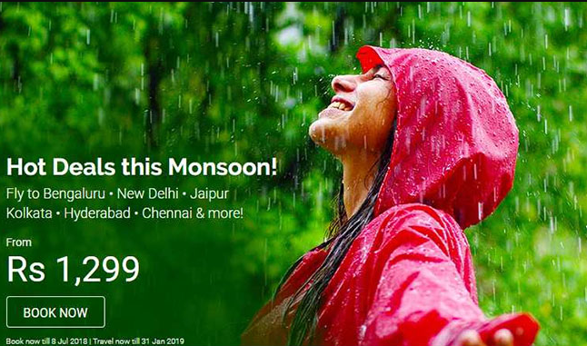 AirAsia India's Hot Deals This Monsoon – Flight Tickets From Rs 1,299