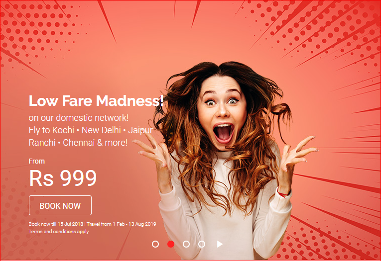 AirAsia Low Fare Madness Sale With Domestic Fares Starting Rs 999