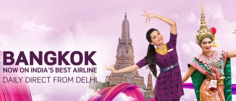 27 August Vistara flies Delhi to Bangkok