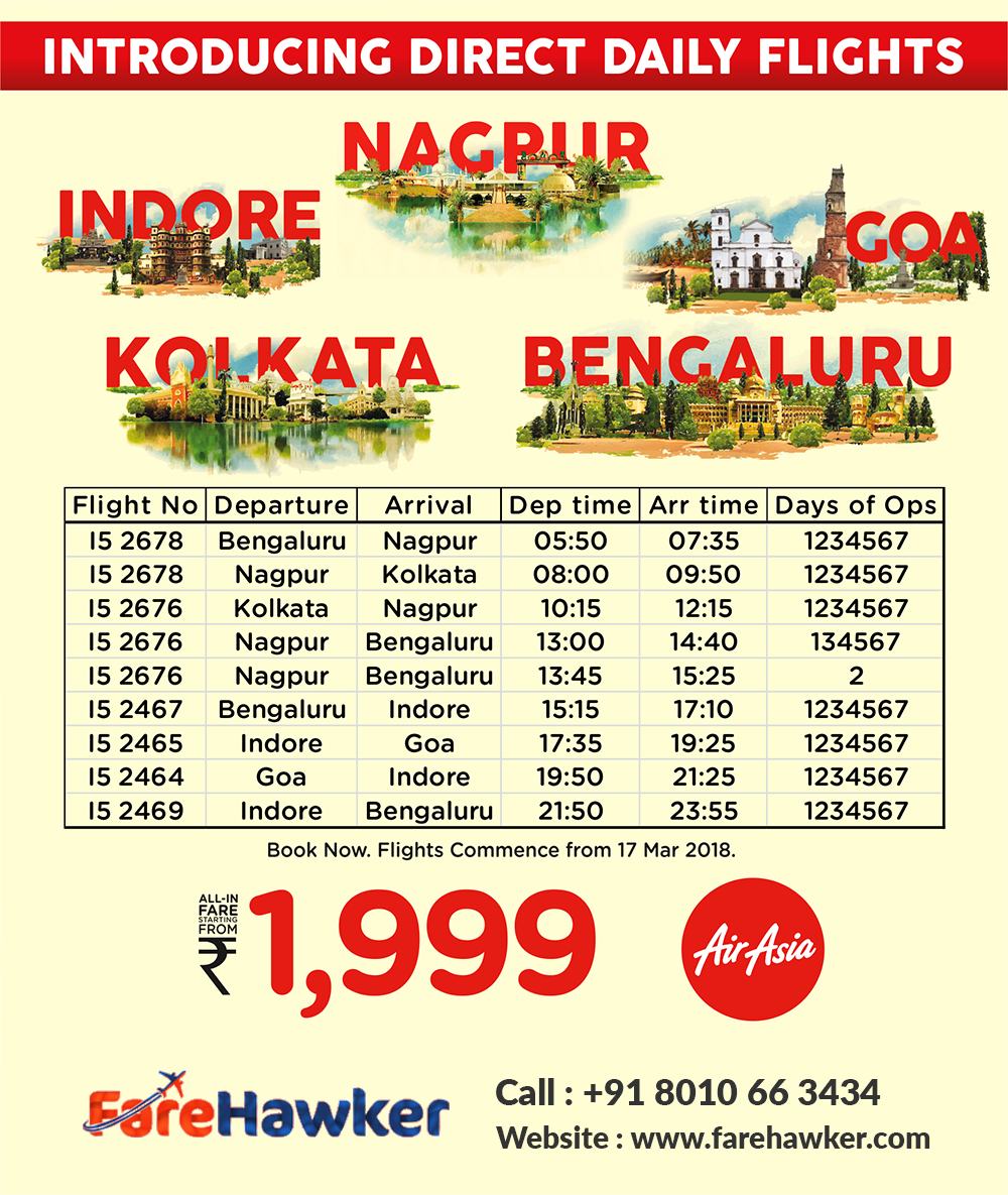 AirAsia Discounted Air Tickets for Indian Cities