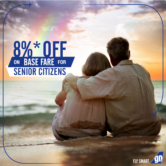 GoAir Discount On Domestic Flight Tickets For Senior Citizens