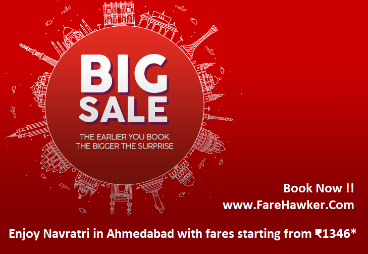 Biggest Garba Celebration at Ahmedabad Flight Ticket Fare starting from Rs 1346 by GoAir
