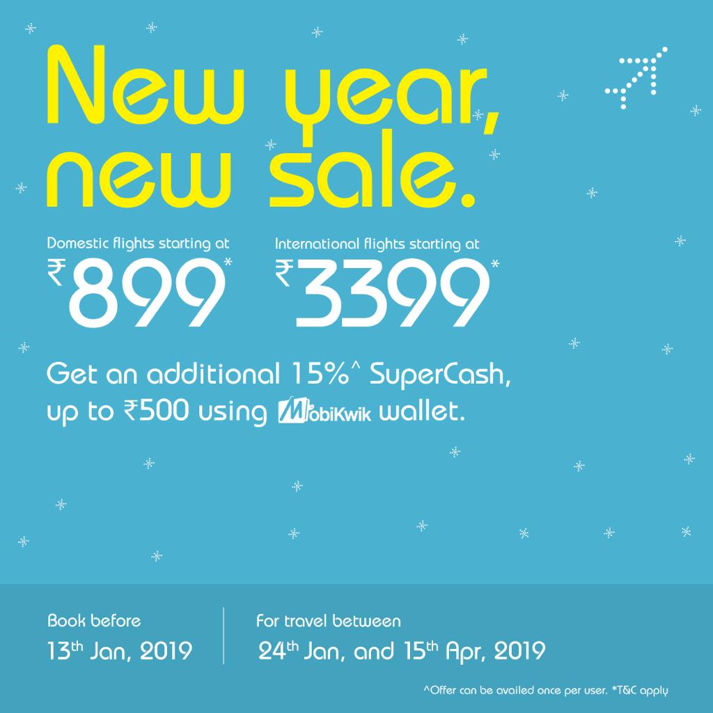 With new year, Indigo Airlines is offering new sales.