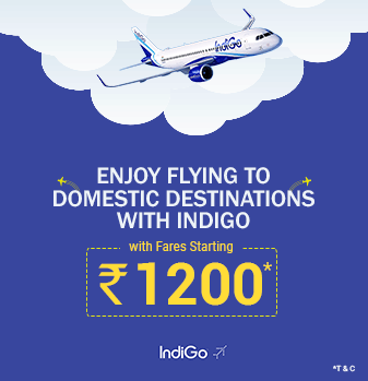 Domestic Sectors with Fares Starting from Rs.1200 with IndiGo Offer