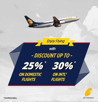 30% Discount On Domestic And International Flight Tickets – Jet Airways