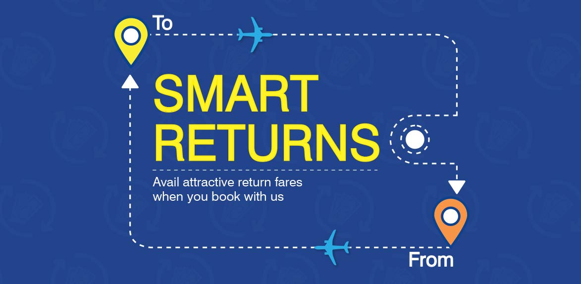 Attractive Return Fares on Booking with GoAir