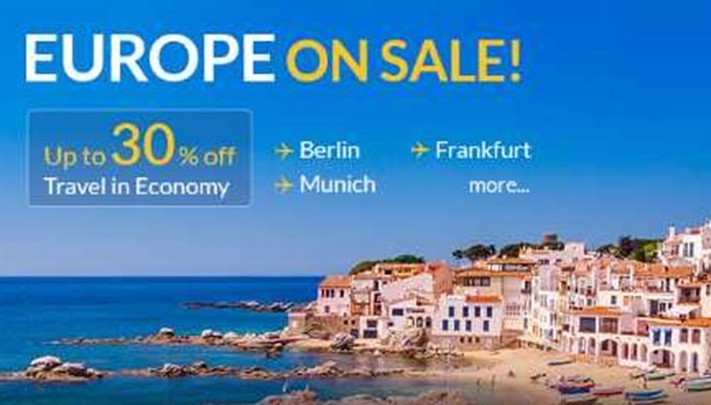 Jet Airways Offers Up To 30% Off On Select Flight Tickets For Europe